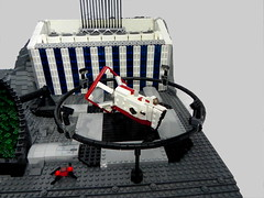 Landing Pad (Ty Stephany) Tags: lego moc creation spacejam 2019 2018 space moon base residential garage tower office ship