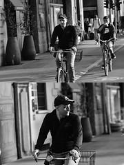 [La Mia Città][Pedala] (Urca) Tags: milano italia 2018 bicicletta pedalare ciclista ritrattostradale portrait dittico bike bicycle nikondigitale scéta biancoenero blackandwhite bn bw 11839