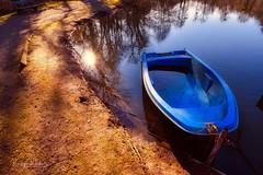 Blue Boat (r.wacknitz) Tags: liebenburg teich boot blau colour reflection backlight luminar18 wintermood nikond3400 tamron1024