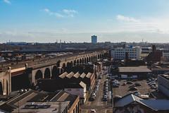 Arches in Digbeth, Birmingham (Barxy) Tags: digbeth arches train skyline birmingham morning sun blueskies city