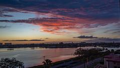 Sunset Boca Ciega Bay (vwalters10) Tags: sunset bay buildings clouds florida water sky