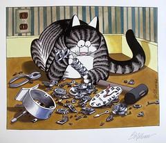 March and Daylight Savings Time (Bennilover) Tags: calendar cat cats working march kliban artist art clock clocks daylightsavings bkliban