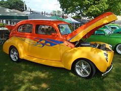 1940 Ford Standard Tudor (splattergraphics) Tags: 1940 ford standard tudor hotrod customcar flames carshow nsra streetrodnationalseast yorkexpocenter yorkpa