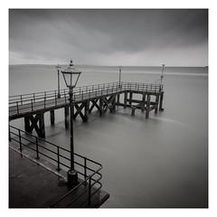 Jetty (Robgreen13) Tags: hampshire portsmouth harbour jetty pier longexposure windswept rain desaturate seascape