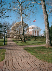 University of Virginia (davekrovetz) Tags: landscape architecture universityofvirginia virginia uva fuji gs645w mediumformat film analog walkway rotunda magnolia kodak portra