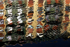 naviglio grande (Rino Alessandrini) Tags: water reflections colors abstract motion waves surface backgrounds pattern reflection multicolored nature textured yellow