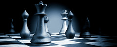 strategy (nithiyabhaskar) Tags: market marketing positioning strategy chess chessboard business success pieces blue game board piece competitor convergent converging uniting cooperating unity cooperation target objective black france