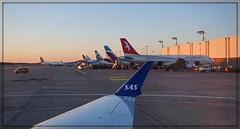 Hamburg Airport (Körnchen59) Tags: hamburg airport flugzeug aircraft abendstimmung sunset körnchen59 elke körner sony 5000