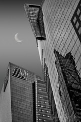 Times Square New York City NY BW (Susan Candelario) Tags: 42ndst 42ndstreet ernstyoung manhattan manhattanskyline ny nyc nycskyline newyork newyorkcity newyorkcityskyline northamerica susancandelario timessquare us usa unitedstates architectural architecture bluehour building cityscape cityscapes commercialbuilding dusk evening halfmoon highrise iconic landmark landmarks midtown midtownmanhattan moon quartermoon scenery sign signs skies sky skyline skylines skyscraper skyscrapers sunset sundown sunsets twilight urban urbanlandscape
