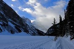 Fairview Mountain and Mount Victoria, Lake Louise (jmichael100) Tags: banffnationalpark lakelouise mountvictoria mountain mountaininwinter lake frozenlake