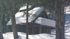 Picturesque winter cabin on Rt. 3... (Art of MA Foto Stud) Tags: woodstock newhampshire snow winter christmas cabin fir pine trees