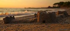 The family's castle (Ivan Gualtieri) Tags: castle sand beach tuscany castello toscana sabbia spiaggia tramonto sunset italy
