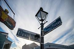 Guidepole at French Quarter (gemapozo) Tags: streetsign bourbonstreet d850 ursulinesstreet nikon usa frenchquarter neworleans ニューオーリンズ ルイジアナ州 アメリカ合衆国 us afsnikkor2485mmf3545gedvr フレンチクォータ バーボンストリート