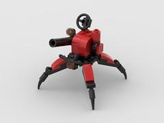 Reclusive Spider - Crimson Legion - Update (Vitor O S Faria) Tags: mfz mf0 mobileframezero mobileframe lego mecha mech