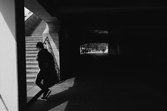Basel - September 2018 (Mattia Spinelli Photography) Tags: basel basilea swiss switzerland europe bnw blackwhite blackandwhite bw silhouette svizzera street streetphotography streetislife streetphotographers streetphoto streets streetlife streetphotographer streetshot stairs light dark art visual visualart people photography persone capturestreet captures capture fujifilm fujifilmxseries fujixstreet fuji fujixpassion architecture monochrome lensculture lens city citylife urban urbanlandscape urbanshot bikes biciclette bicycle