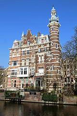 Amsterdam2014_164 (schulzharri) Tags: amsterdam holland niederlande netherlands europ europe flus river water building house haus sun sonne sky himmel blau blue