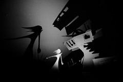 Shadowscape 2 (Skyler Brown Art) Tags: architecture art artwork bw blackwhite blackandwhite creepy dark female girl gothic noir paper sculpture woman