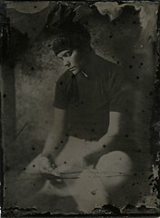 Iraida (NooFZz) Tags: wetplate bw blackandwhite portrait collodion