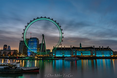 London Eye and County Hall (DonMiller_ToGo) Tags: sunrise london londoneye riverthames