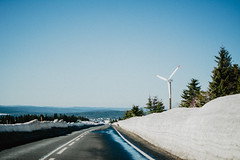 Mountains drive. (lukas.miller.photography) Tags: winter clear sky road mountains czech cool nikon photography photo 18 35mm d7100 outdoor outside grain film mood sunny daylight