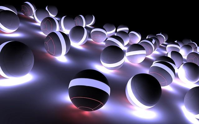Обои шары, неон, свет, яркий, тень картинки на рабочий стол, фото скачать бесплатно