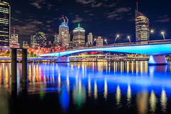 Brisbane - South Bank (Rafael Zenon Wagner) Tags: stadt lichter flus brücke spiegelung farben nikon d810 28mm city lights river bridge reflection colors skyline