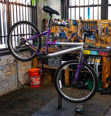 Bike Repair 87 of 365 (Year 6) (bleedenm) Tags: workingbikes 2019 bikes charity chicago illinois industral olli spring tools