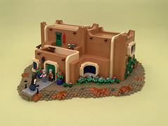 Coming Home to Santa Fe (Nannan Z.) Tags: lego pueblo house architecture