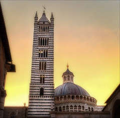Siena Duomo (kate willmer) Tags: church duomo cathedral building architecture sunset light colour siena tuscany italy