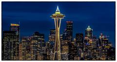 Seattle Skyline77 (4 Pete Seek) Tags: seattle seattlewa seattlewashington seattleskyline seattlecityscape skyline cityscape night nightskyline nightcityscape nightphotography longexposure urban urbanphotography urbanlandscape aurorahdr