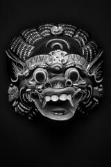 barong (Ale Rub) Tags: maske mask asia china traditional souvenir flewmarket youmadeit bw sw blackandwhite eos350d flash photoshoped barong bali asien rangda strobist schwarzweiss