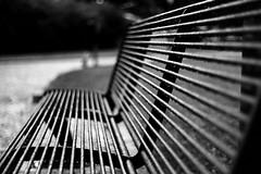 Too wet to sit (Leica M6) (stefankamert) Tags: film analog analogue noir noiretblanc leica m6 leicam6 summitar kodak trix blackandwhite blackwhite wet people blur blurry lines bench grain tones rain bokeh