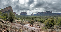 Chapel Trail panorama (Al Case) Tags: 6photo photomerge panorama sedona arizona chapel trail al case nikon d500 hiking clouds desert red rocks landscape nikkor 24120mm f4g