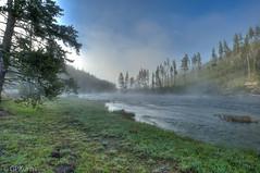 Yellowstone Morning Mist (Gary P Kurns Photography) Tags: onone landscape d700 river nationalpark madisonriver yellowstone nikon wyoming