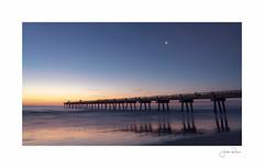 Jacksonville Pier (jrobfoto.com) Tags: a7rii alpha fullframe jacksonville jacksonvillepier moon pier predawn raw sony star sunrise jacksonvillebeach florida unitedstatesofamerica us
