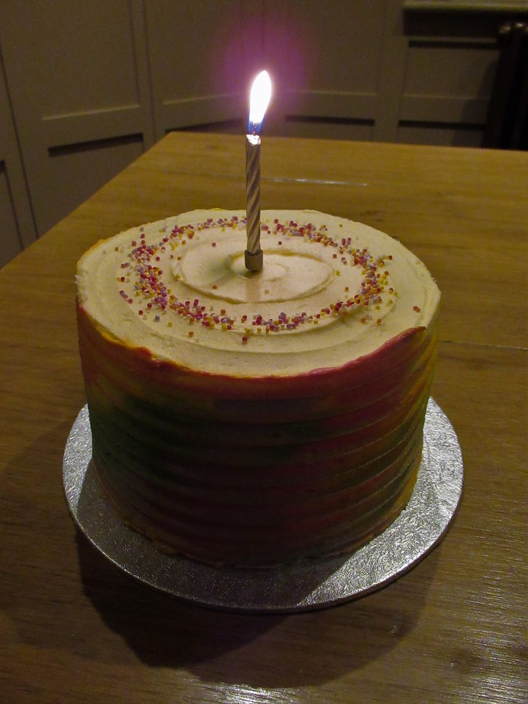 Waitrose Rainbow Birthday Cake Oakhamuk Tags