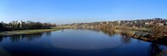 Elbe - Panorama - Dresden, DE (André-DD) Tags: elbe fluss river water wasser panorama blaueswunder bridge brücke schatten shadow winter riverbank ufer sonne sun dresden sachsen saxony germany deutschland