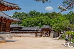 _IMG3072-124 (JChilleo) Tags: geyongbokgung palace korea korean asia asian sky blue clouds green tree trees foliage plants bush bushes shrubbery shrubberies handcrafted old artistry artwork art colors pagoda shrines shrine seoul