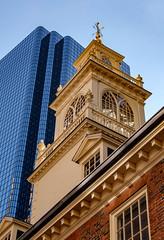 Old and New (davetherrienphoto) Tags: modern glass skyscraper ornate cupola old brick boston dental plain steel oldstatehouse new
