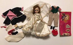 Antique Show find (Foxy Belle) Tags: doll betsy mccall tiny 8 inch vintage american character antique show flea market bride veil white gown redhead titian hard plastic booklet ice skate coat pony shoes lot