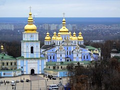 St Michael's Golden-Domed Cathedral, Kiev (iwys) Tags: st michaels dome cathedral orthodox kiev ukraine architecture golden kyiv
