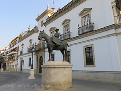 Monument to the Countess of Barcelona, Seville, Spain (geoff-inOz) Tags: monument countessofbarcelona seville andalusia bullring heritage architecture historic building spain maestranza españa