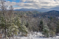 Winter View (mevans4272) Tags: winter snow mountains trees forest clouds sky