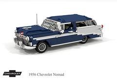 Chevrolet 1956 Nomad Hardtop Wagon (lego911) Tags: chevy chevrolet chev v8 belair nomad hardtop wagon estate 1950s classic chrome twotone auto car moc model miniland lego lego911 ldd render cad povray usa america american afol foitsop