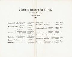 Bolivia Railways - 0-8-2ST Abt type steam locomotive details (Maschinenfbarik Esslingen 1904) (HISTORICAL RAILWAY IMAGES) Tags: steam locomotive train railways eisenbahn dampflok esslingen mfe maschinenfabrik bolivia abt zahnrad