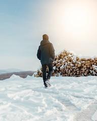 Sunny winter. (V. Maradin) Tags: boy walk wood winter snow sunshine outdoor nikon nikonphotography d5300