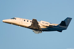 PH-ANO (Andras Regos) Tags: aviation aircraft plane fly airport bud lhbp spotter spotting takeoff cessna citation