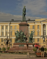 A9754HELSb (preacher43) Tags: helsinki finland building architecture sky clouds history senate square cathedral goverment palace university tsar alexander ii statues