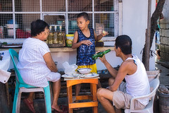 Explain (Beegee49) Tags: street family eating boy discussing drinking luminar happy planet sony a6000 bacolod city philippines asia