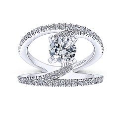 Original NOVA Renewal Design With Swinging Strands of Pave Diamonds in 14k White Gold Engagement Ring Setting (diamondanddesign) Tags: originalnovarenewaldesignwithswingingstrandsofpavediamondsin14kwhitegoldengagementringsetting er12416r4w44jj bridal rd engagement rings gbbr 65 068 ct gabriel ny diamond 14k white gold lifestyle